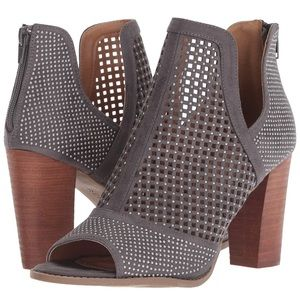 Report Raider Gray Studded Booties Size 9.5